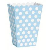 Boîtes à popcorn à pois Bleu & Blanc (x8)