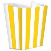 Boîtes à Popcorn à Rayure Jaune (x5)