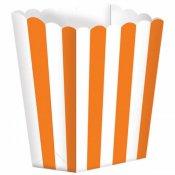 Boîtes à Popcorn à Rayure Orange (x5)