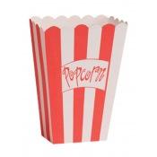 Boîtes à popcorn rayure rouge (x8)