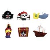 Bougies Anniversaire Figurines Pirate (x6)