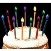 Bougies anniversaire Flammes Multicolore (x12)