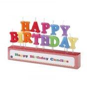 Bougies Anniversaire Lettre Happy Birthday (x13)