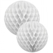 Boule Alvéolée en papier Blanc