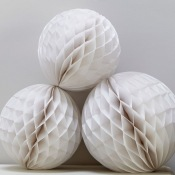 Boules Alvéolée Blanc (x3)