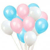 Bouquet de 12 Ballons Bleu & Rose Gender Reveal (3x4)