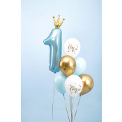 Bouquet de Ballons ONE Bleu & Or (x6)