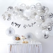 Bouquet pour Arche 60 Ballons Argent