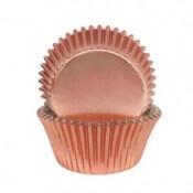 Caissettes à Cupcake Rose Gold métallisé (x45)
