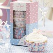 Caissettes à Cupcakes pieds rose et bleu (x100)