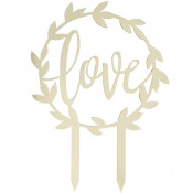 Cake Topper Love Doré