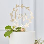 Cake Topper Love Doré
