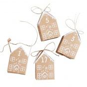 Calendrier de l'avent 24 Maisons de Noel