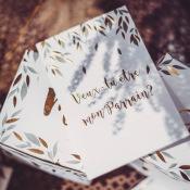 Cartes + Enveloppes  Veux tu être mon parrain, marraine  (x2)
