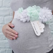 Ceinture de Fleur Mint Baby Shower Future Maman