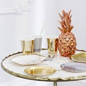Centre de table Ananas Rose Gold