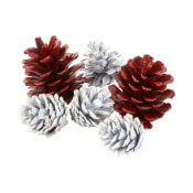 Centre de table Pomme de Pins Noel (x8)