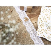 Chemin de table Jute Dentelle Blanc