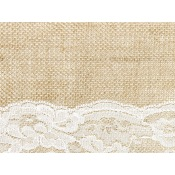 Chemin de table Jute Dentelle Centrale Blanc