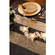 Chemin de table Sequin Or scintillant 3m