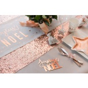 Chemin de table Sequin Rose Gold