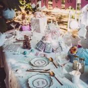 Confettis de table Bleu & Or Petit Trésor (x100)
