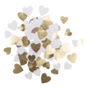 Confettis de table Coeur Blanc & Or (x100)