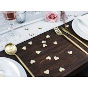 Confettis de table Coeur en Bois 2 cm (x50)