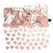 Confettis de table Coeur Rose Gold