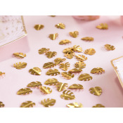 Confettis de table Feuillage Métallique Or