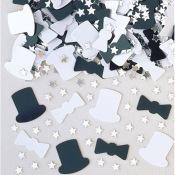 Confettis de table Haut de Forme et Noeud Papillon