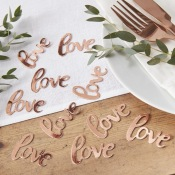 Confettis de table Love Rose Gold Métal
