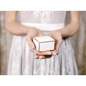 Contenants à Dragées Blanc & Or (x10)