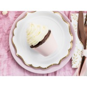 Déco à cupcake Rose & Or (x6)