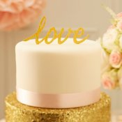 Déco Gâteau Figurine Mariage L.O.V.E