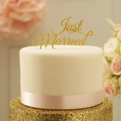 Déco Gâteau JUST MARRIED Mariage