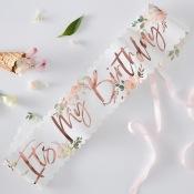 Echarpe It's my Birthday Fleur & Rose Gold