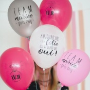 EVJF Ballons de baudruche Team Mariée (x5)