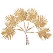 Feuilles sur tige Pailleté Or 19 x 4.5 cm (x6)