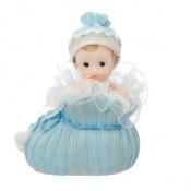 Figurine Baptême Garçon Bleu