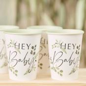 Gobelets Botanique Hey Baby Shower (x8)