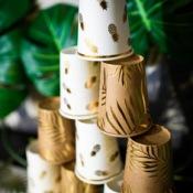 Gobelets en carton Ananas Or (x4)