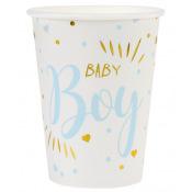 Gobelets en carton Baby Boy Bleu (x10)