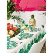 Gobelets en carton Feuillage Vert Tropical (x8)