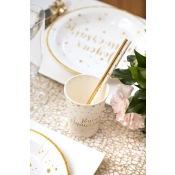 Gobelets en carton Joyeux Anniversaire Or (x5)