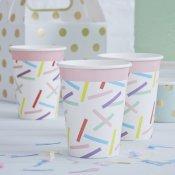 Gobelets en carton Multicolore (x8)