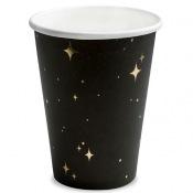 Gobelets en carton Noir Etoile Or (x6)