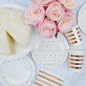 Gobelets en carton Rayure Rose Gold (x5)