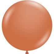 Grand Ballon en latex Terracotta 43 cm