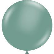 Grand Ballon en latex Vert Eucalyptus 43 cm